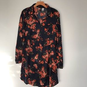 Divided H&M | Moody Floral Long Sleeve Dress | 12